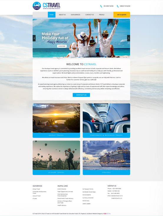 cs travel homepage