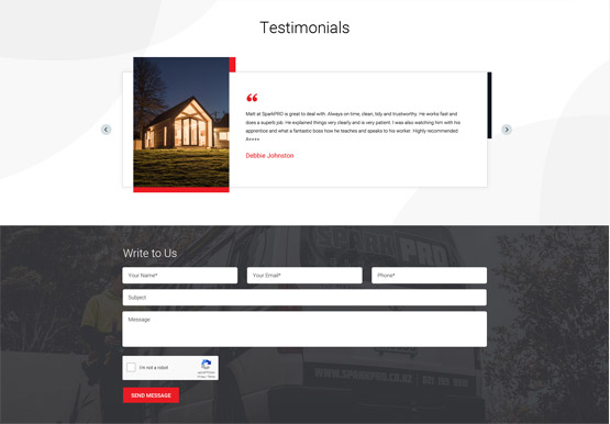 web digital testimonials