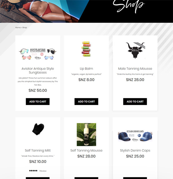 tan box shop designs