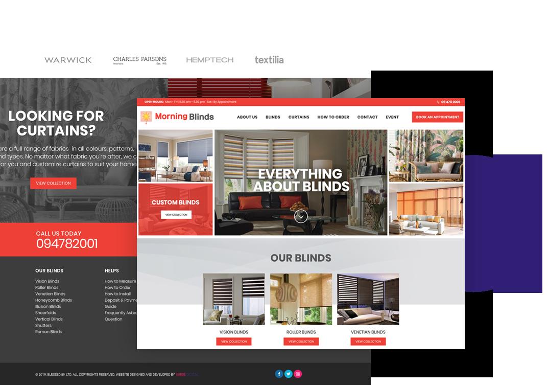 Web Digital Mock up Page
